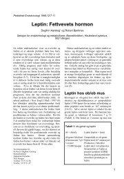 Leptin: Fettvevets hormon - Pediatrisk Endokrinologi