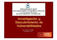 Investigación y Descubrimiento de Vulnerabilidades - Cybsec