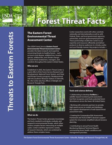 Threats to Eastern Forests - Eastern Forest Environmental Threat ...