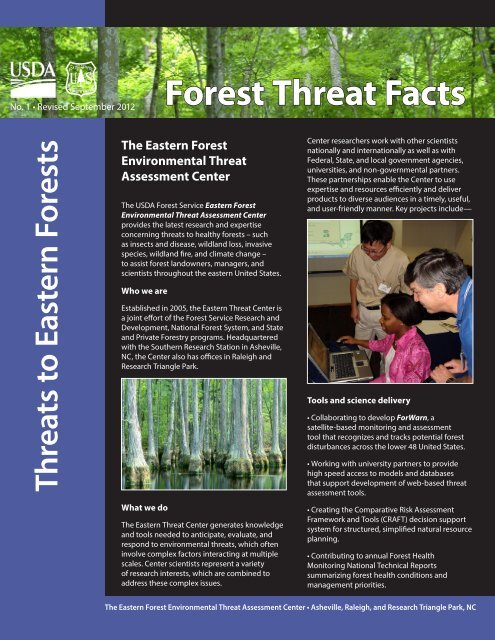Threats to Eastern Forests - Eastern Forest Environmental