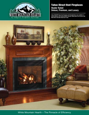 Tahoe Direct-Vent Fireplaces - Victorian Sales