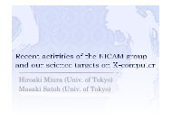 Recent activities of the NICAM group and our scientific ... - cmmap