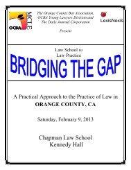 Chapman Law School Kennedy Hall - Orange County Bar Association