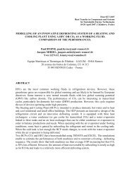 modelling of an innovative defrosting system of a heating and ...