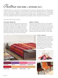 to download the pantone home +interiors forecast - Graphic Design ...