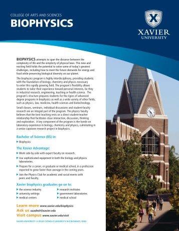 BIOPHYSICS - Xavier University