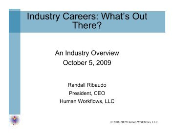 Industry Careers: What's Out There?