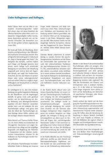 Psychotherapeutenjournal 4/2010 (.pdf)