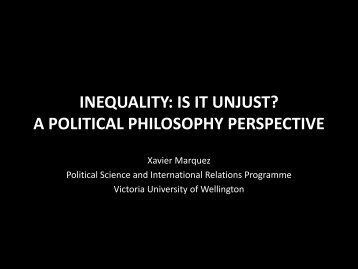 is inequality unjust? - Victoria University of Wellington