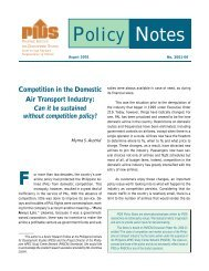 Competition in the Domestic Air Transport Industry - Philippine ...