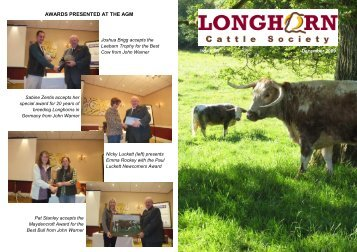 Newsletter No. 66 - Longhorn Cattle Society
