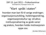 Organisasjonsutvikling og -endringer i arbeidslivet - Difi