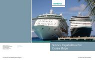 Service Capabilities For Cruise Ships - Siemens