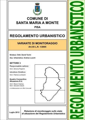 Relazione di monitoraggio del Regolamento Urbanistico