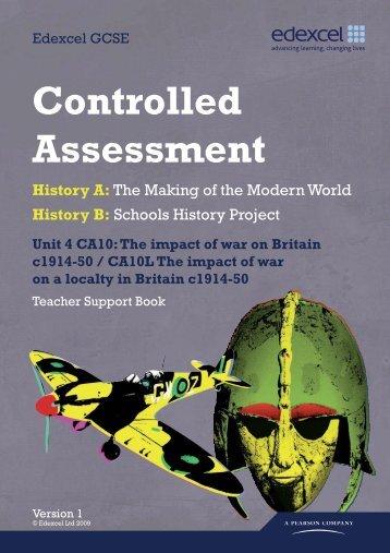 Controlled Assessment - Goffs School