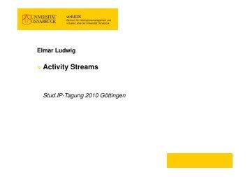 Activity Streams » - Stud.IP