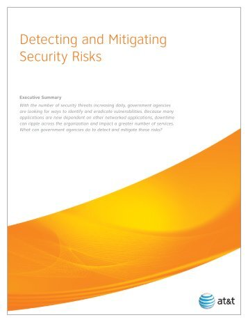 Detecting and Mitigating Security Risks - AT&T