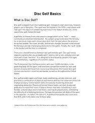 Disc Golf Basics - Burlington Parks and Recreation