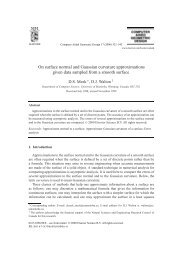 On surface normal and Gaussian curvature approximations given ...