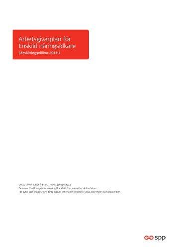 Arbetsgivarplan för Enskild näringsidkare - SPP
