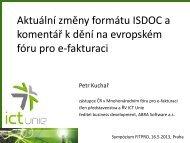 Aktuální změny formátu ISDOC a komentář k dění na evropském ...