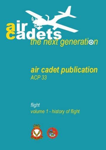 ACP 33 Volume 1 – History of Flight - 967 Air Cadets