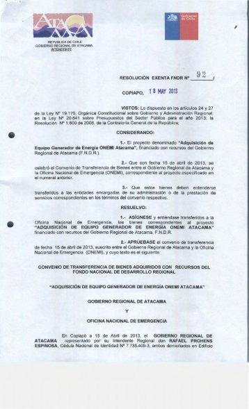 COPIAPO, 1 O MAY 2013 - Gobierno Regional de Atacama