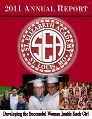 2011 ANNUAL REPORT - St. Elizabeth Academy