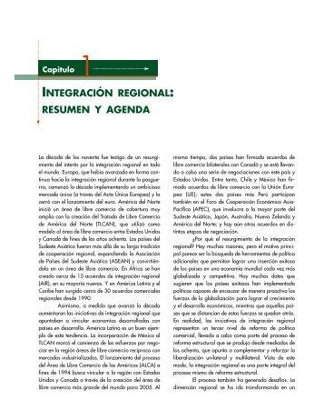 integración regional: resumen y agenda - Centro de Estudio Sobre ...