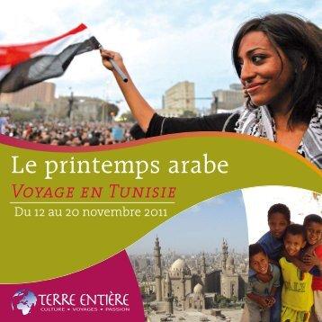 Le printemps arabe : programme détaillé (pdf) - Terre Entiere