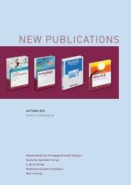 NEW PUBLICATIONS - Hirzel