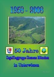 50 Jahre in Unterwössen - Segelfluggruppe Siemens München eV