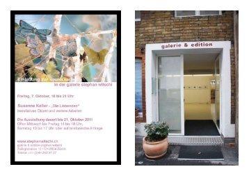 Ausstellungsübersicht - Susanne Keller