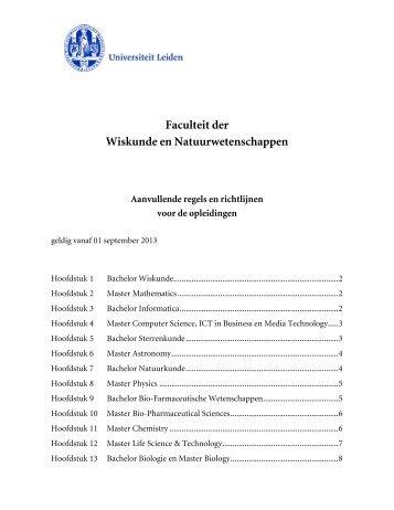 Hoofdstuk 1 Bachelor Wiskunde