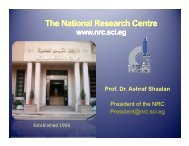 The National Research Centre - Comsats