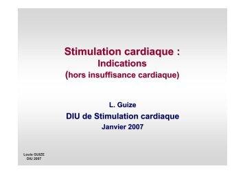 Indications de la stimulation cardiaque classiques et nouvelles (hors ...