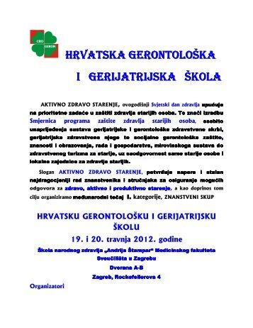 """Program - Škola narodnog zdravlja """"Andrija Štampar"""" - Sveučilište u ..."""