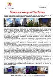 Communiqué de presse - Suresnes inaugure l'îlot Sisley (pdf - 649 ...