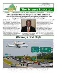 The Science Educator - Virginia Association of Science Teachers