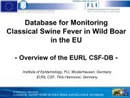 Database for Monitoring Classical Swine Fever in Wild Boar in the EU