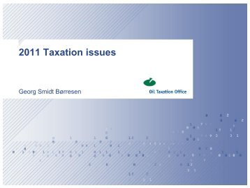 2011 tax assessment issues - NPF