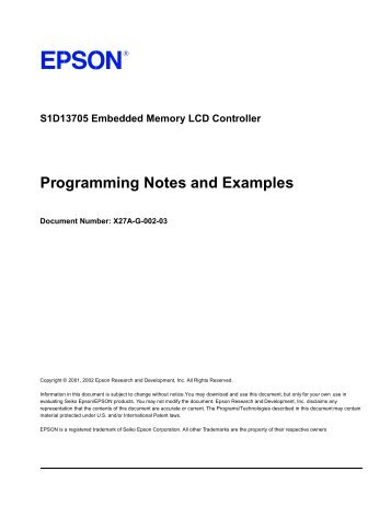 Programming Notes and Examples