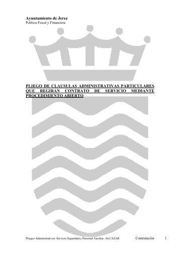 Ayuntamiento de Jerez PLIEGO DE CLAUSULAS ...