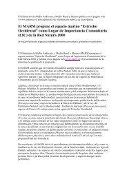 """""""Estrecho Occidental"""" como Lugar de Importancia Comunitaria (LIC)"""