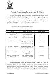 Formato Parlamentario Norteamericano - Universidad Andrés Bello