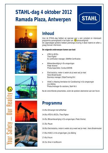 Programma voor locatie Antwerpen - Electromach BV