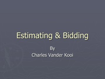 Creating a Winning Cost Estimate