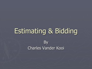 Creating a Winning Cost Estimate