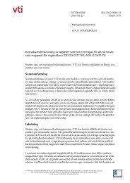 Konsekvensbeskrivning av åtgärder som bör övervägas för att ... - VTI