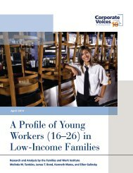 A Profile of Young Workers (16–26) in Low-Income Families